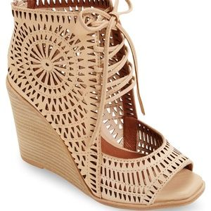 Jeffrey Campbell 'Rayos' perforated wedge sandal